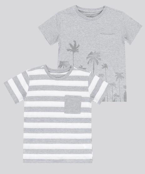 Kit-de-2-Camisetas-Estampadas-Cinza-Mescla-8742029-Cinza_Mescla_1