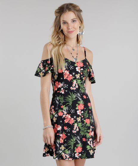 Vestido-Open-Shoulder-Estampado-Floral-Preto-8809157-Preto_1