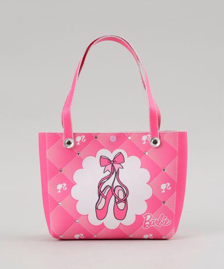 Bolsa-Estampada-Barbie-com-Brilho-e-Elastico-de-Cabelo-Rosa-8769788-Rosa_1