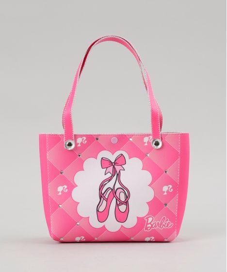 eefffcf82 Bolsa Estampada Barbie com Brilho e Elástico de Cabelo Rosa - cea