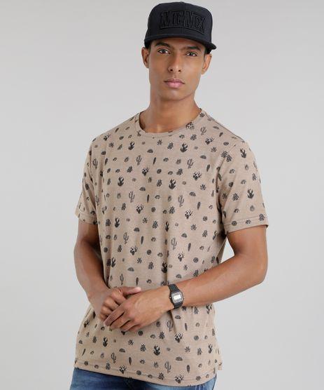 Camiseta-Estampada-de-Cactos-Caramelo-8776853-Caramelo_1