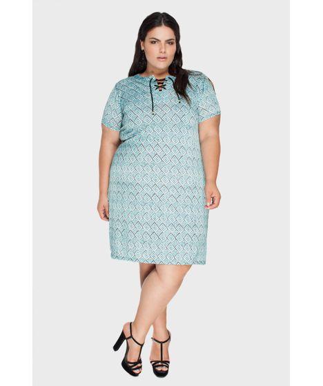 f992cde96 Vestido Jersey Amarração Plus Size - cea