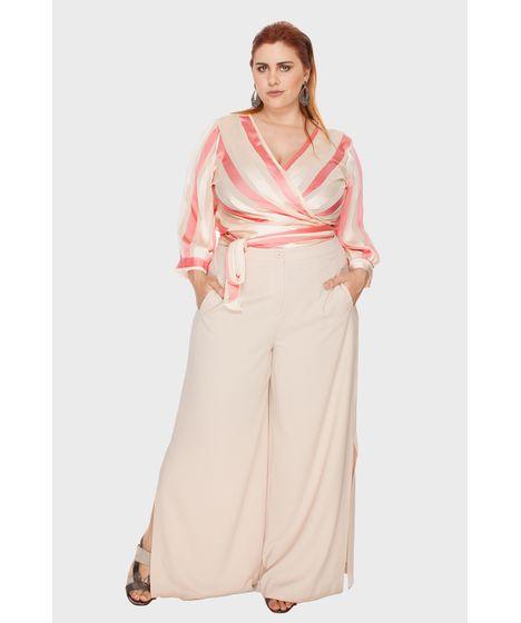 70d97779ffad Calça Pantalona Crepe Plus Size - cea