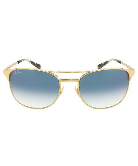 c46bd62bb455b Óculos de Sol Ray-Ban New Signet RB3429M - Dourado   Azul - 001 3F58 ...