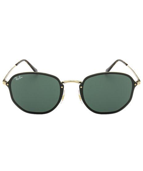 eotica. foto-1. Integracao. Adicionar Óculos de Sol Ray-Ban Hexagonal  RB3579N - Preto Dourado - 001 71 58 9e98cc0849