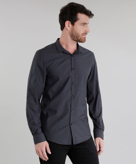 Camisa-Slim-Listrada-Preta-8636895-Preto_1