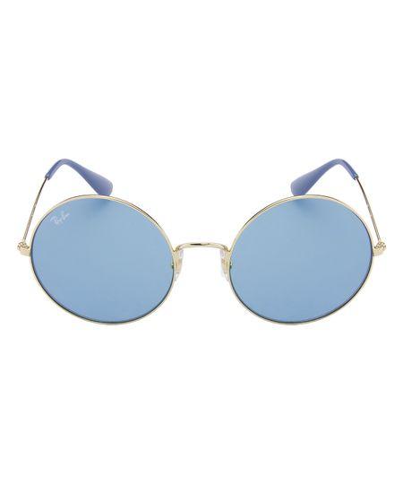 3df7c17883474 Óculos de Sol Ray-Ban Ja Jo RB3592 - Dourado Azul - 001-F7 55 ...