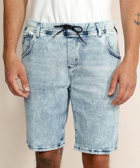 Bermuda-Jeans-de-Moletom-Masculina-Relaxed-com-Cordao-Azul-Claro-9961733-Azul_Claro_1
