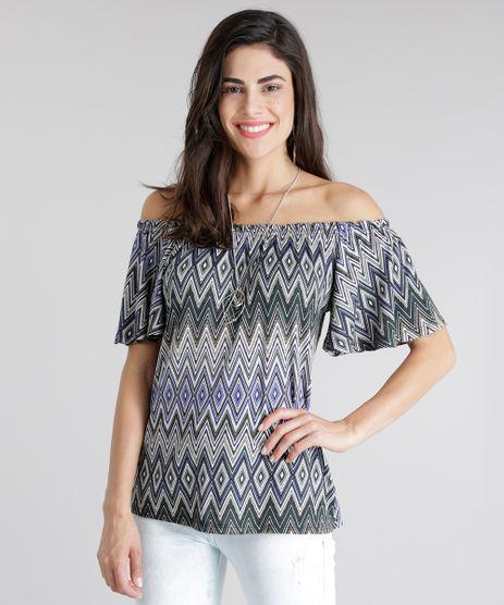 Blusa-Ombro-a-Ombro-Estampada-Geometrica-Verde-Escuro-8806833-Verde_Escuro_1