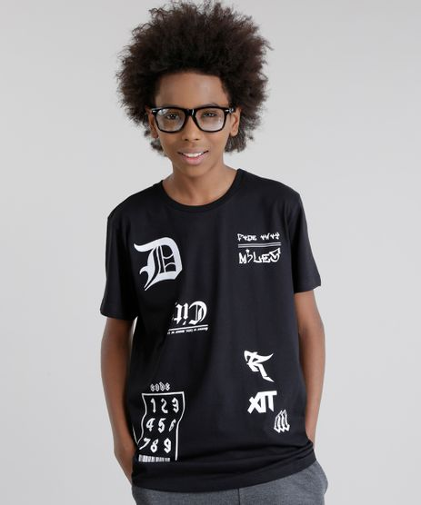 Camiseta-Longa-com-Bordado-Preta-8743309-Preto_1