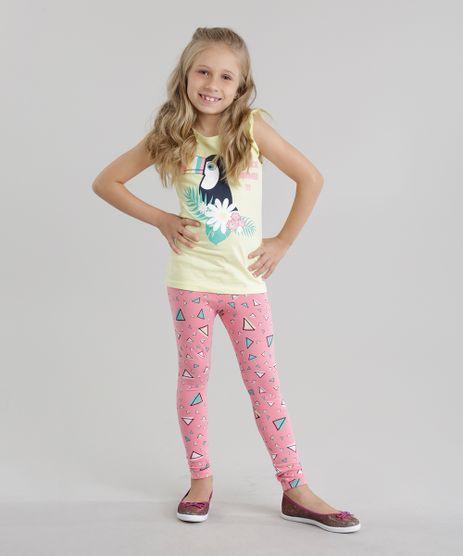 Conjunto-de-Regata--Tropical-Summer--Amarelo-Claro---Calca-Legging-Estampada-de-Triangulos-Rosa-8741074-Rosa_1