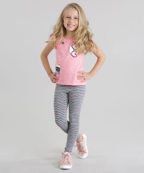 Conjunto-Minnie-de-Blusa-Rosa-Claro---Calca-Legging-Listrada-Cinza-Mescla-8741053-Cinza_Mescla_1