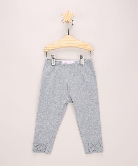 Calca-Legging-Infantil-com-Lacinhos-Cinza-Mescla-9970642-Cinza_Mescla_1