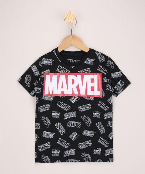 Camiseta-Infantil-Herois-Marvel-Estampada-Manga-Curta-Preta-9968665-Preto_1