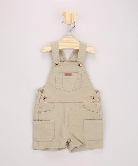 Jardineira-de-Sarja-Infantil-Kaki-9968304-Kaki_1
