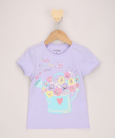 Blusa-Infantil--Let-s-Save-The-Planet--com-Glitter-Manga-Curta-Lilas-9965727-Lilas_1