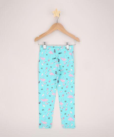 Calca-Legging-Infantil-Estampada-de-Flamingos-Verde-Agua-9966635-Verde_Agua_1