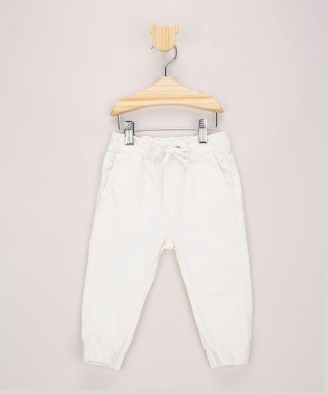 Calca-de-Sarja-Infantil-Jogger-com-Bolsos-Off-White-9632470-Off_White_1