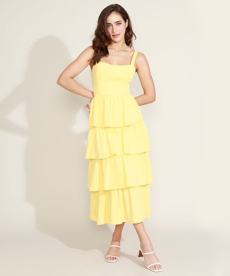 Vestido-Feminino-Mindset-Midi-em-Camadas-Alca-Media-Amarelo-9840951-Amarelo_1
