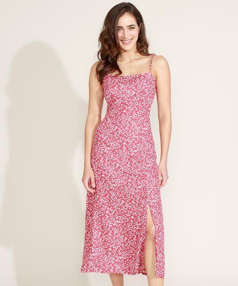 Vestido-Feminino-Mindset-Midi-Estampado-Floral-com-Fenda-Alca-Fina-Vermelho-9974059-Vermelho_1