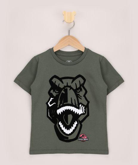 Camiseta-Infantil-Jurassic-World-Flocada-Manga-Curta-Verde-Militar-9969348-Verde_Militar_1