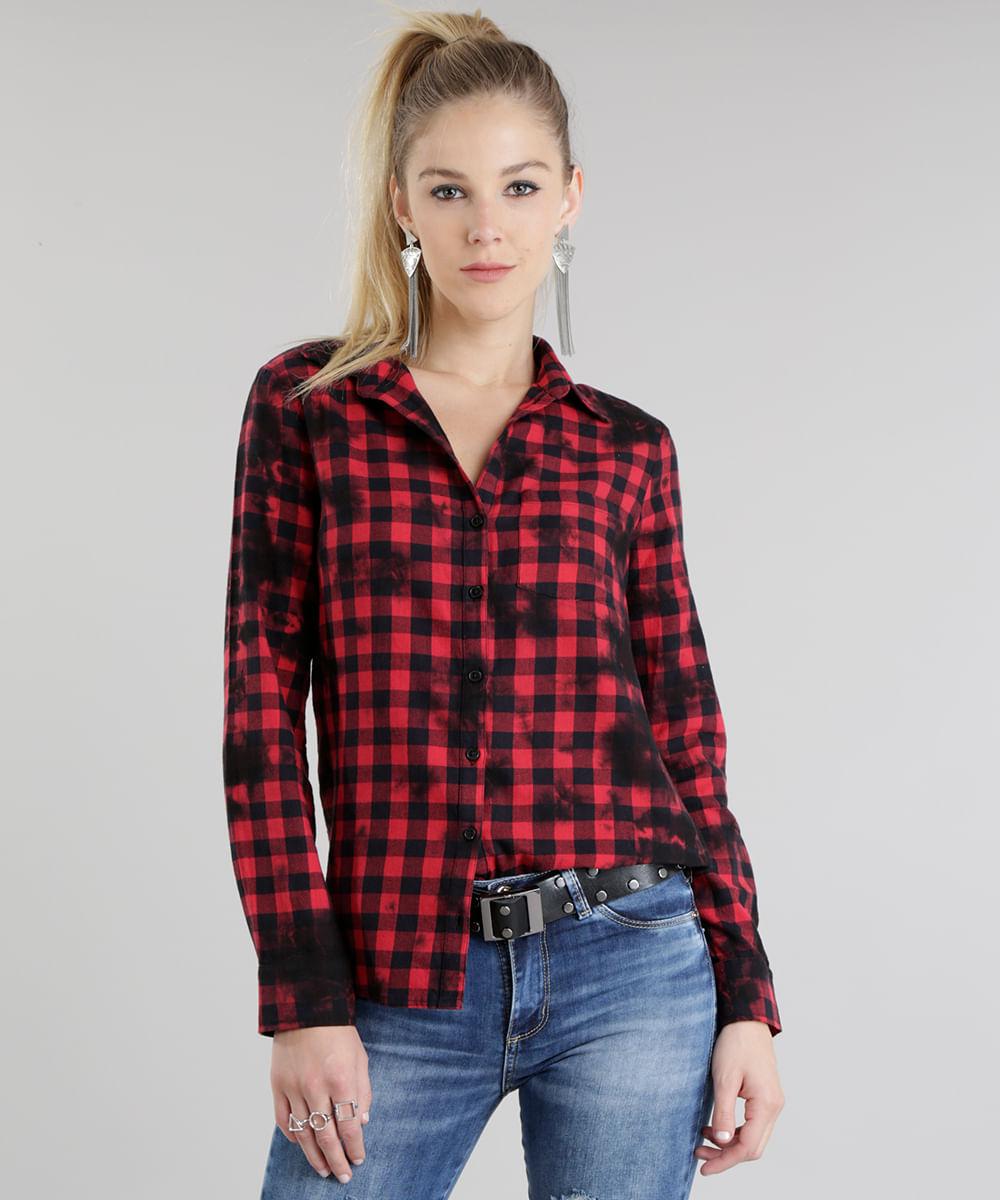 fc90a61004 ... Camisa-Xadrez-Longa-Vermelha-8692636-Vermelho 1