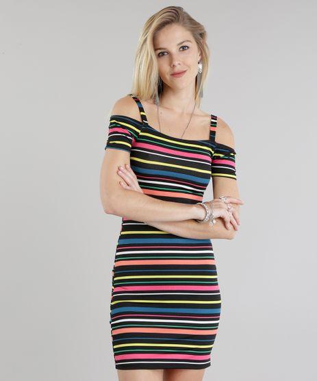 Vestido-Open-Shoulder-Listrado-Preto-8798788-Preto_1