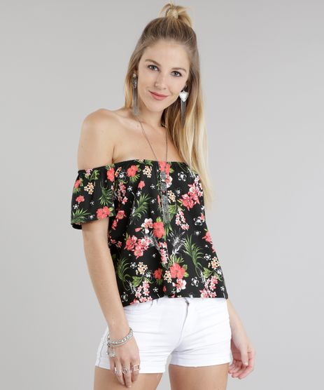 Blusa-Ombro-a-Ombro-Estampada-Floral-Preta-8784128-Preto_1