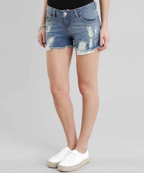 Short-Jeans-Reto-Destroyed-Azul-Medio-8778909-Azul_Medio_1