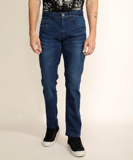 Calca-Jeans-Masculina-Reta-com-Bolsos-Azul-Medio-9962224-Azul_Medio_1