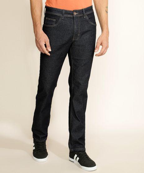 Calca-Jeans-Masculina-Reta-com-Bolsos-Azul-Escuro-9962225-Azul_Escuro_1
