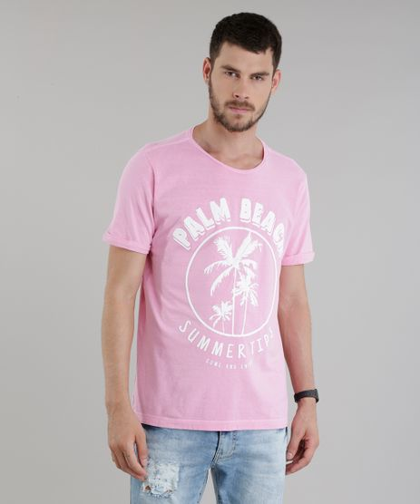 Camiseta--Palm-Beach--Rosa-8762962-Rosa_1