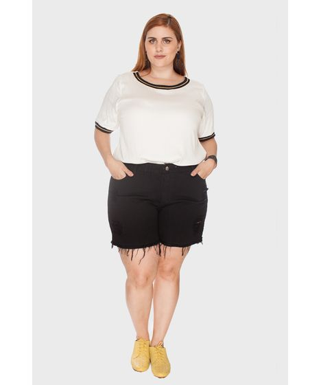 05b6653b4 Shorts Destroyed Plus Size - cea
