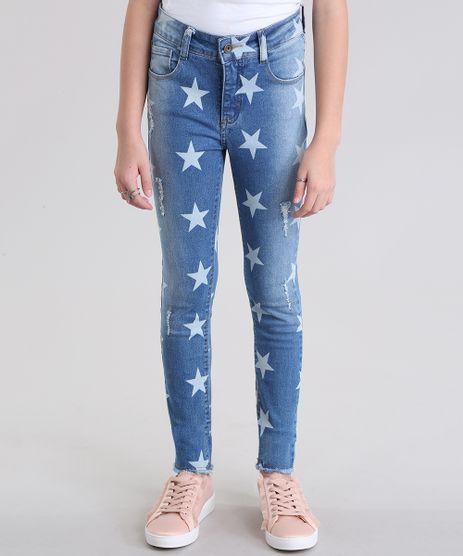 Calca-Jeans-Estampada-de-Estrelas-Azul-Medio-8719400-Azul_Medio_1