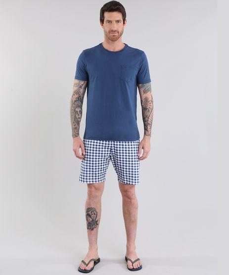 Pijama-Xadrez-Azul-Marinho-8781869-Azul_Marinho_1