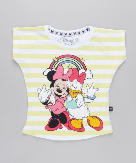 Blusa-Minnie-e-Margarida-com-Estampa-Listrada-em-Algodao--Sustentavel-Branca-8762572-Branco_1