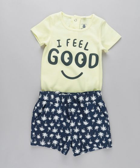 Conjunto-de-Body--I-Feel-Good--Amarelo-Claro---Short-Estampado-de-Coqueiros-em-Moletom-Azul-Marinho-8682957-Azul_Marinho_1