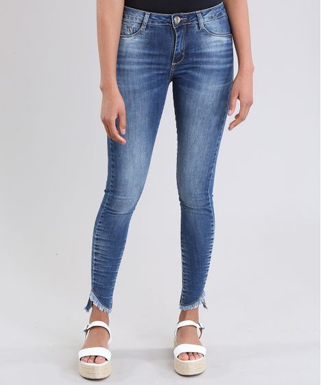 5b5c786fd Calca-Jeans-Super-Skinny-Sawary-Azul-Escuro-8770138- ...