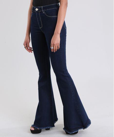 7ee4b3057 Calca-Jeans-Flare-Sawary-Azul-Escuro-8886802-Azul Escuro 1 ...
