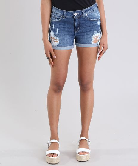 Short-Jeans-Reto-Destroyed-Azul-Medio-8797529-Azul_Medio_1