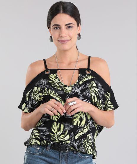 001577829e Blusa-Open-Shoulder-Estampada-de-Folhas-Preta-8741875-