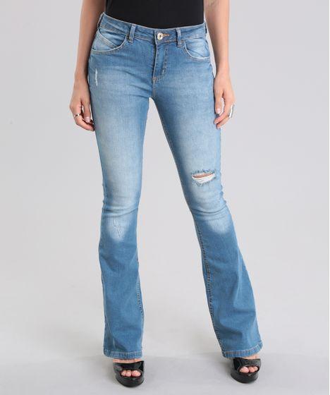 f2b0e445c Calca-Jeans-Flare-Destroyed-Azul-Claro-8796812-Azul_Claro_1 ...