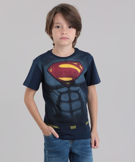 Camiseta-Super-Homem-em-Algodao---Sustentavel-Azul-Marinho-8787033-Azul_Marinho_1