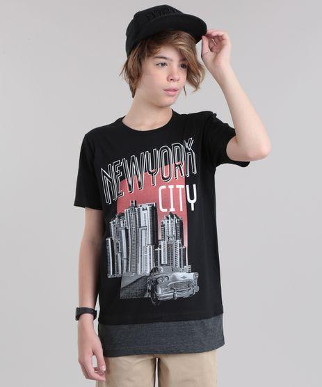 Camiseta-Longa--New-York-City--Preta-8808658-Preto_1