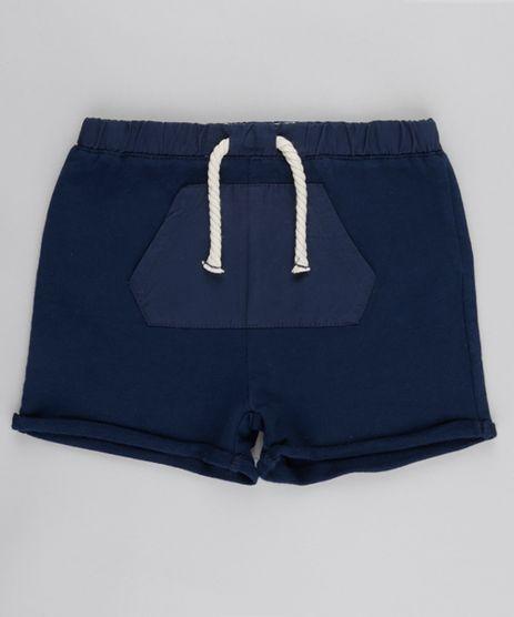 Short-em-Moletom-com-Bolso-em-Algodao---Sustentavel-Azul-Marinho-8684479-Azul_Marinho_1