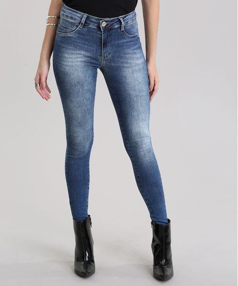 7b81d5b5a Calca-Jeans-Super-Skinny-Sawary-Azul-Escuro-8865795-