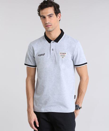 Polo-Guinness-em-Piquet-com-Bordado-Cinza-Mescla-8781830-Cinza_Mescla_1
