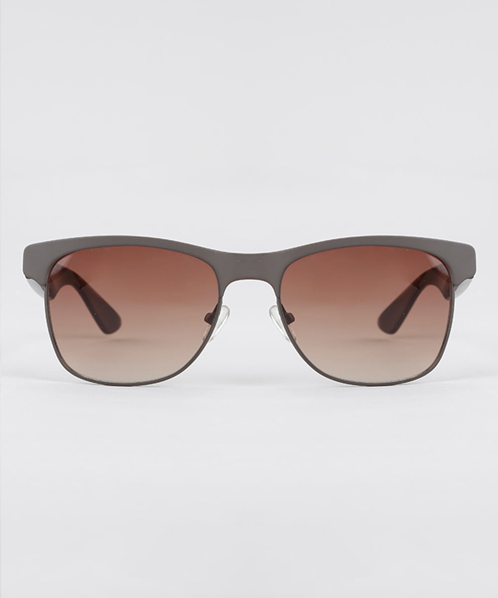 Óculos de Sol Quadrado Masculino Oneself Marrom - Único bde3c0dd09