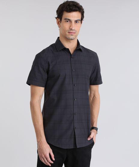 Camisa-Slim-Xadrez-Preta-8636829-Preto_1