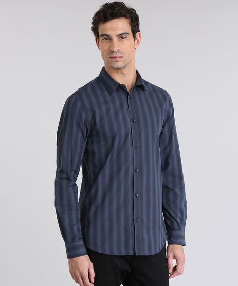 Camisa-Slim-Listrada-Chumbo-8635658-Chumbo_1
